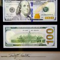 BUREAU OF ENGRAVING AND PRINTING. NEW 100 USD BILL