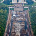 LINCOLN MEMORIAL. View from The Washington Monument