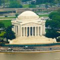 JEFFERSON MEMORIAL. View from The Washington Monument